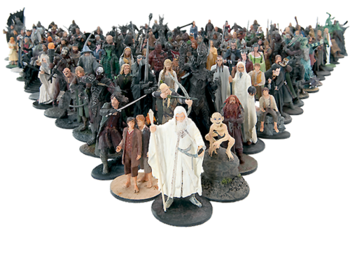 Eaglemoss Lord Of The Rings Figures Collector's Models Series Displayed
