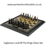 Eaglemoss Lord Of The Rings Chess Displayed Used