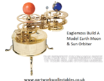 Eaglemoss Build A Model Earth Moon and Sun Orbiter Used