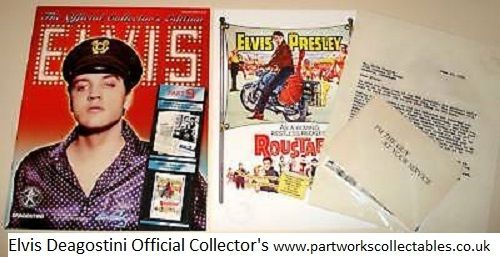 Deagostini Elvis Official Collector's Magazine and Artefacts